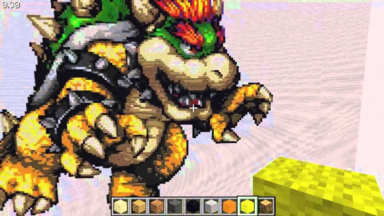 Bowser Minecraft Pixel Art Youtube