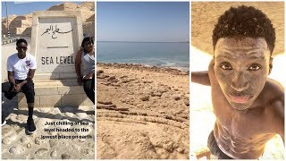 Victor Oladipo visits the lowest place on Earth, the Dead Sea in Israel