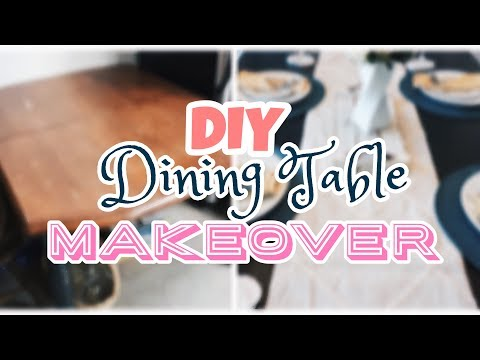DIY Makeover | Meja Tua Jadi Elegant ♡ | DINING TABLE MAKEOVER!