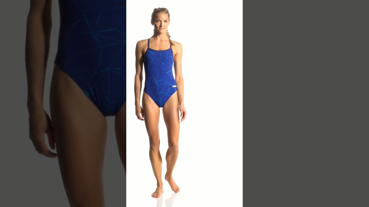 9fc72da403f25 Arena Women's Water Challenge Back MaxLife Thin Strap Open Back One Piece  Swimsuit | SwimOutlet.com