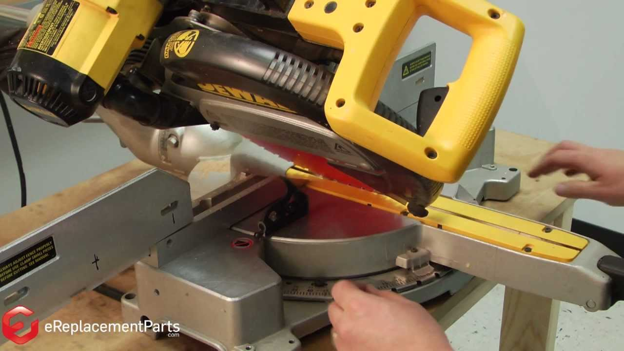 Manual Reset Wiring Diagram How To Square Up And Align A Dewalt Dw708 Miter Saw Youtube