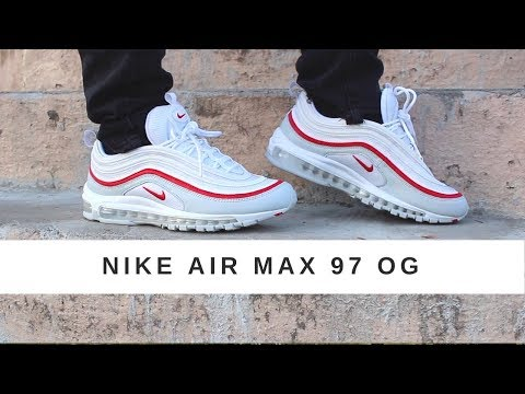Nike Air Max 97 Og Pure Platinum White University Red Review