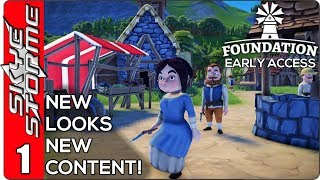Foundation Early Access Ep 1  ▶ NEW LOOKS NEW CONTENT! ◀ Medieval City Building Strategy Game 2019