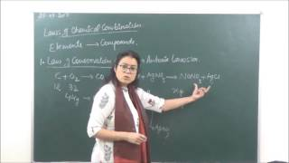 CHEM-XI-1-2 Laws of chemical combination(2017)  Pradeep Kshetrapal Physics channel