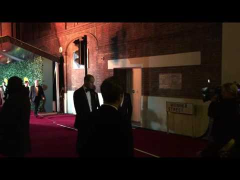 Prince William arrives at The Old Vic for Evening Standard theatre awards