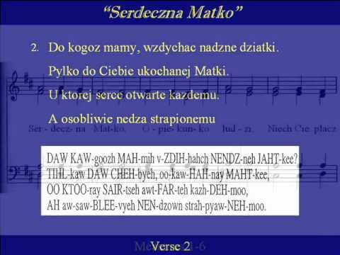 Serdeczna Matko-Pronunciation