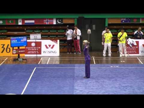 12th World Wushu Championships Kuala Lumpur - Qiangshu Female
