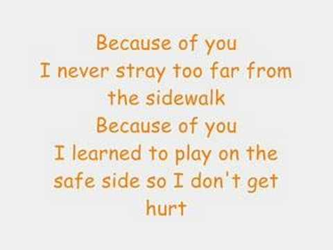 Because Of You Lyrics- Kelly Clarkson