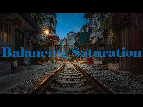 Photo Editing Tutorial - Balancing Saturation