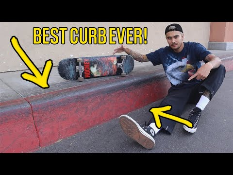 SKATING THE BEST RED CURB IN CALIFORNIA