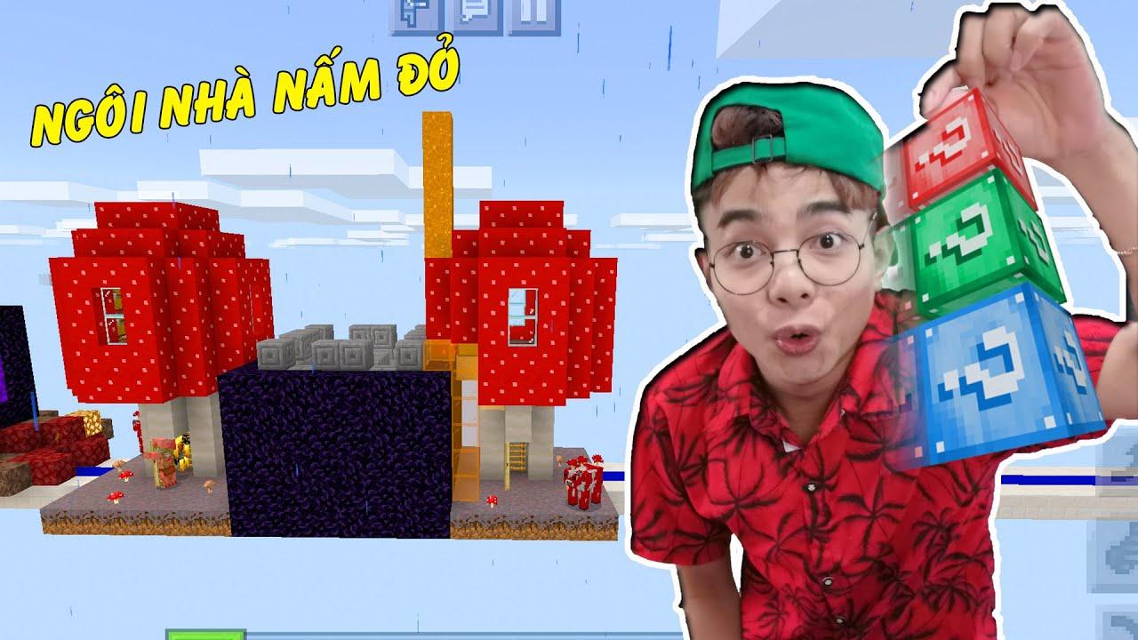ThắnG Tê Tê Xây Nhà Bằng Nấm Đỏ Trong Minecraft