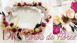 DIY: Coroa de Flores Fácil