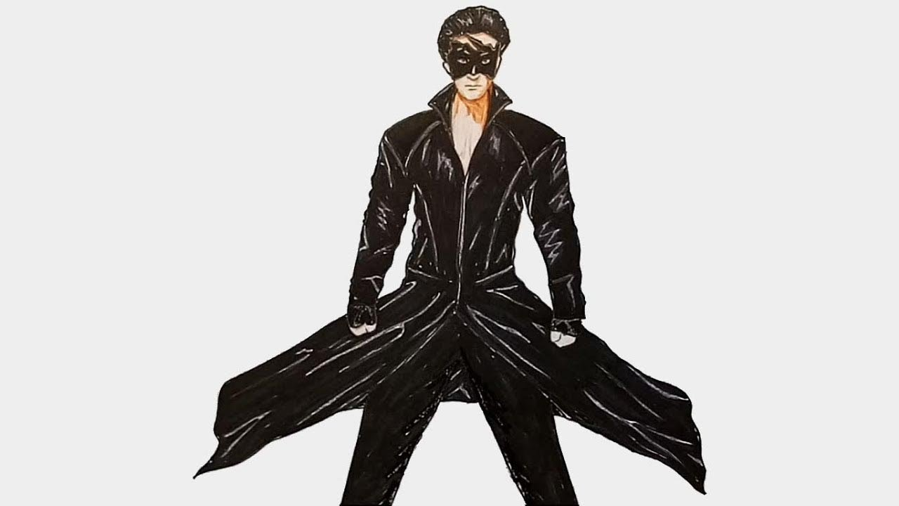 How To Draw Krrish Hritik Roshan Step By