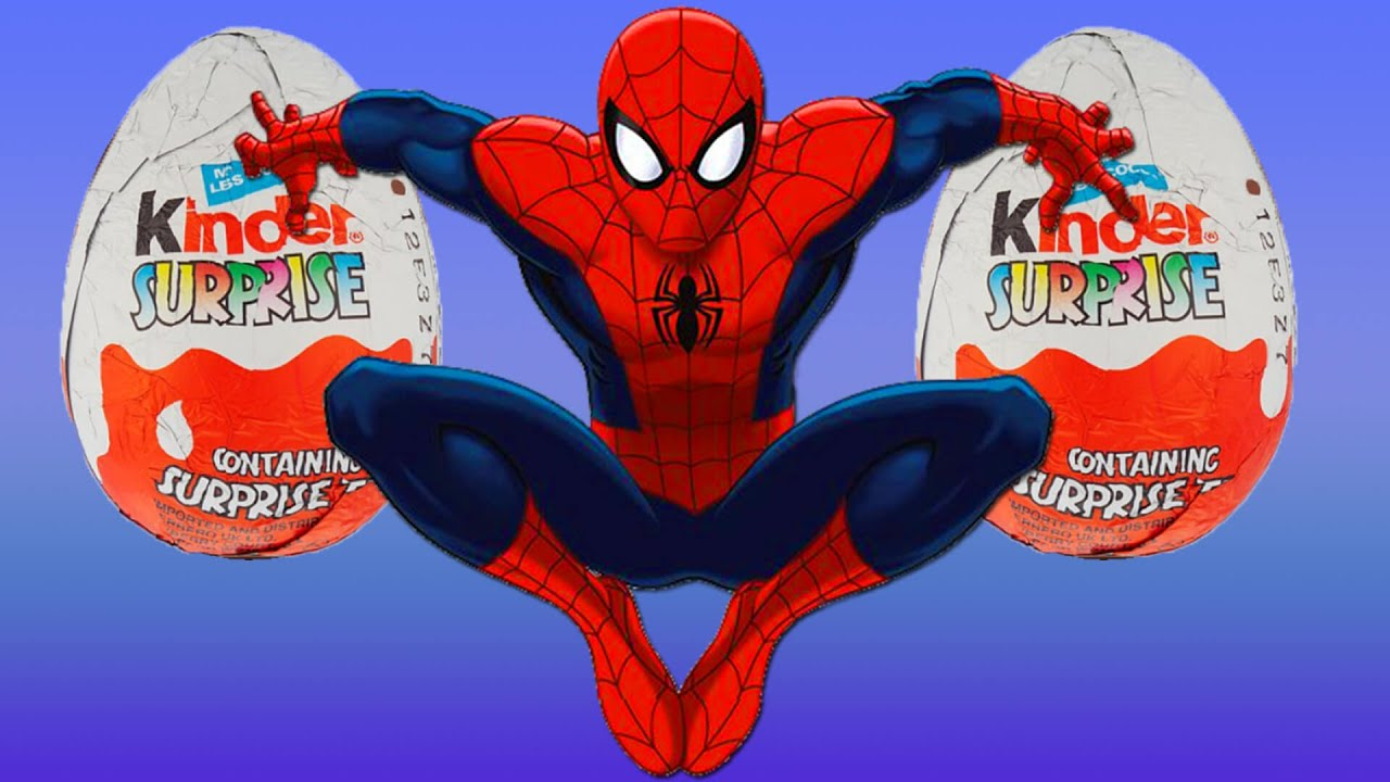 Spiderman Kinder Surprise Eggs - Kids Video - New Kids TV