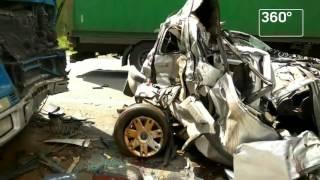 Активист «Синих ведерок» снял видео с места страшной аварии под Новгородом