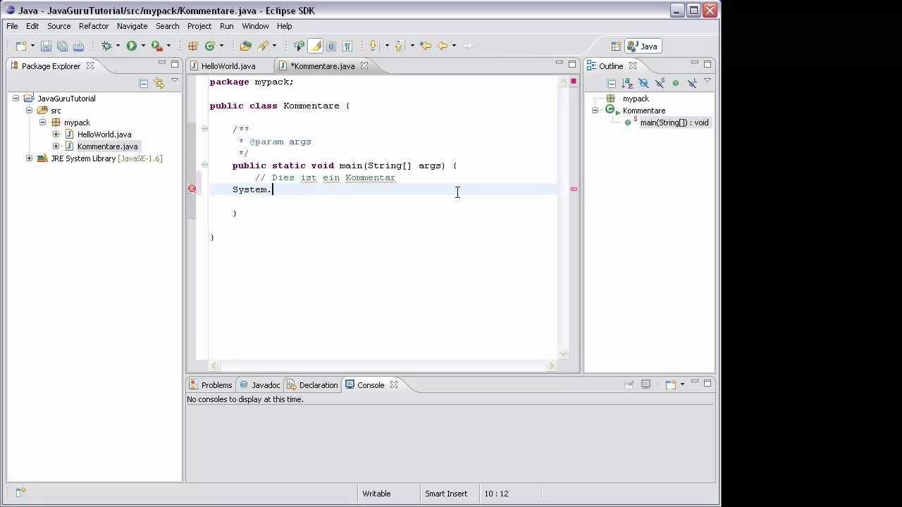 Java Login Programmieren