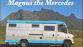 OFF GRID MERCEDES VAN TOUR   VAN LIFE   TINY HOME   CONVERSION // Magnus the Mercedes