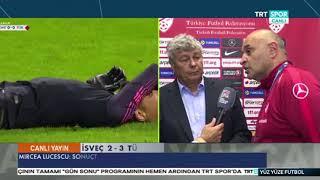 İsveç 2-3 Türkiye | Lucescu Maç sonu Açıklaması