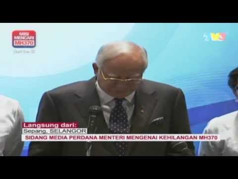 Malaysia Prime Minister #MH370 Press Conference March 15, 2014