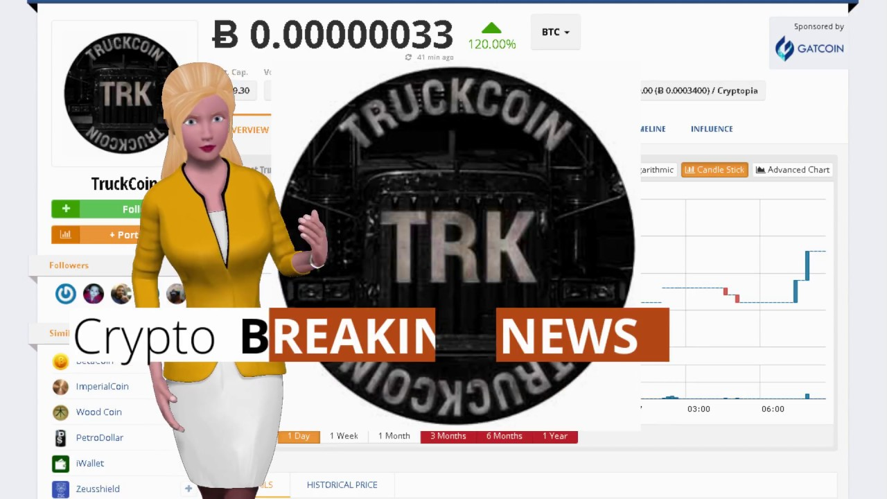 Cryptocurrency TruckCoin $TRK Soared 120% In the Last Day