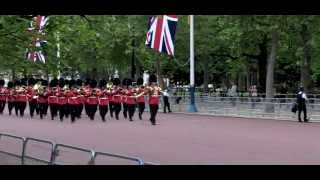 Guards march down The Mall - The Major General