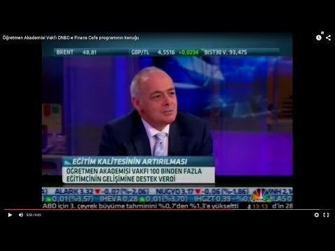 Öğretmen Akademisi Vakfı CNBC-e Finans Cafe programının konuğu