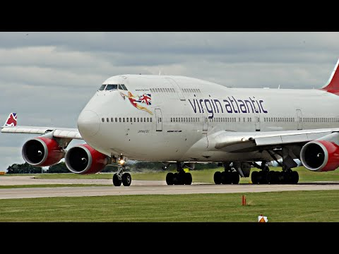 SHORTEST 747 TAKEOFF EVER?!  Virgin Atlantic Boeing 747-400 at Manchester Airport | ✈