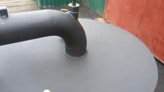 Печь,калорифер,воздушная пушка на отработке масла.Обзор калорифера .
