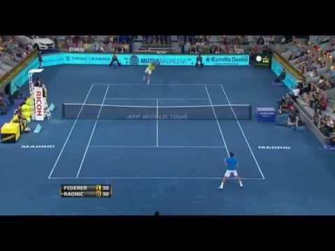 Roger Federer vs Milos Raonic ATP Mutua Madrid Open 2012 Highlights HD