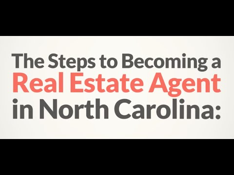 How to become a real estate agent in North Carolina