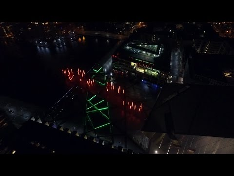 Dublin at Night by Drone