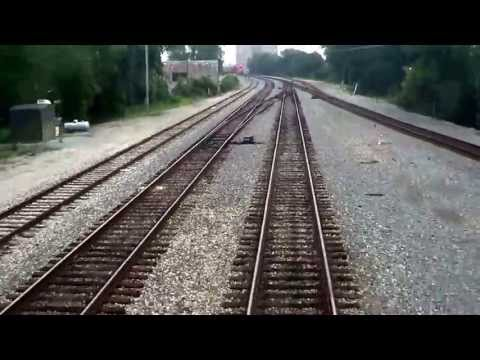 REAR VIEW - Amtrak's City Of New Orleans - Departing Jackson MS