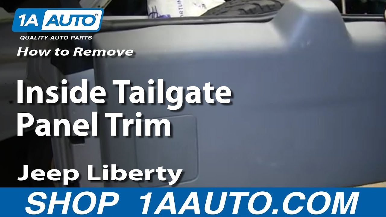 How To Remove Inside Tailgate Panel Trim 2006 Jeep Liberty  YouTube