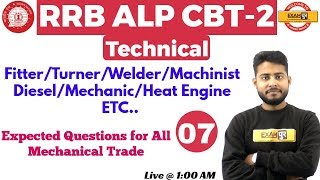 Class 07 ||#RRB ALP CBT-2 Technical | Fitter / Turner etc.|By Vivek...