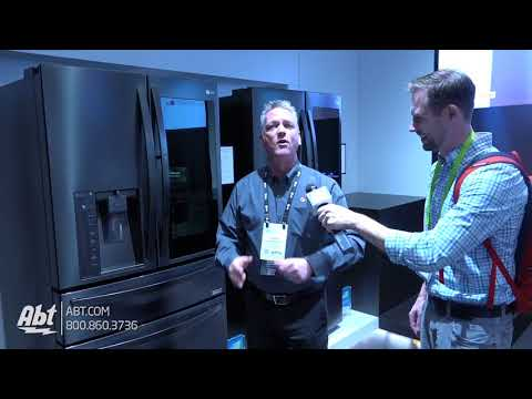 CES 2018 - LG Matte Black Stainless Finish Refrigerator With Instaview