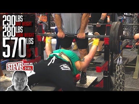 Steve Diel 570lbs (Including Chains) Raw Bench Press | elitefts.com