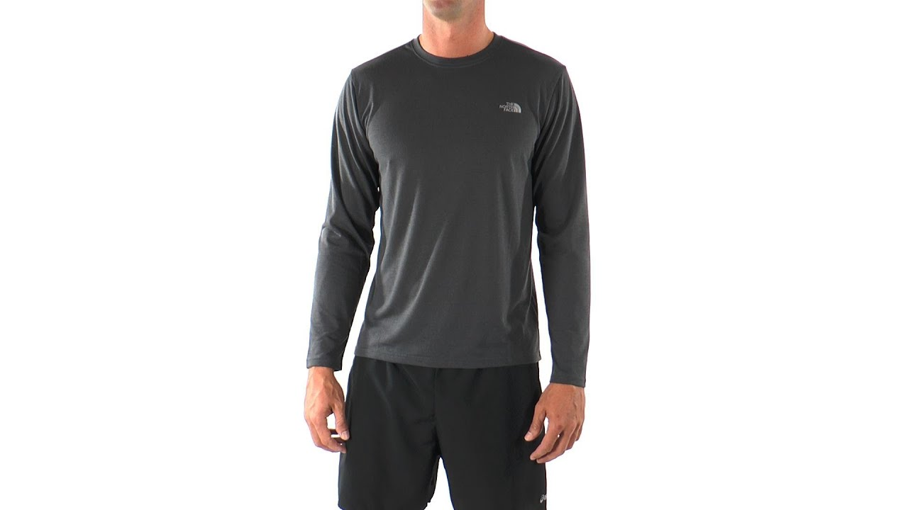 The north face mens long sleeve reaxion running crew swimoutlet the north face mens long sleeve reaxion running crew swimoutlet youtube sciox Images