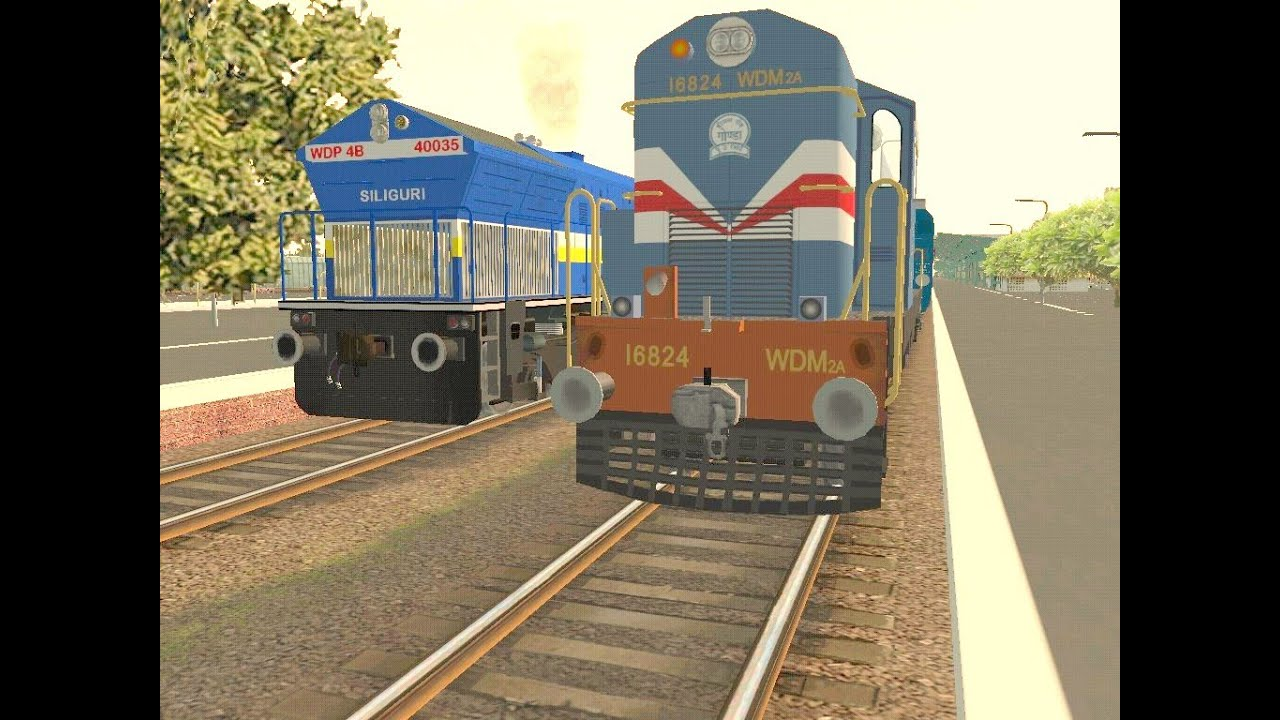 MSTS Indian Railways - Avadh Assam Express with WDP4B ...