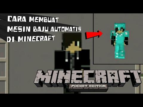 cara membuat mesin baju automatis di minecraft... !! - YouTube