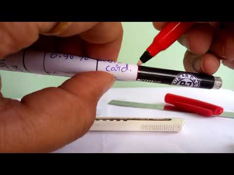 DIY make your own mini pen from Linc Ocean gel pen. Transform your normal pen into small pen.