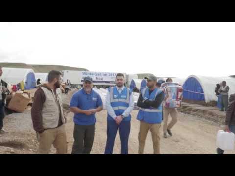 Distributing Winter Aid in Iraq (January 2017)