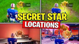 ALL SECRET BATTLE STARS Season 10 - Fortnite Week 1 to Week 5 Secret Battle Star Location (SEASON X)