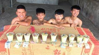 Hữu Bộ | Thử Thách Uống Hết 10 Cốc Trà Sữa Nhận Tiền Thưởng