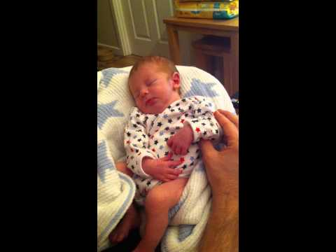 New born enjoying a bit of justin bieber Baby