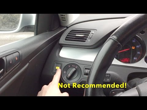 What Happens when you Press the Parking Brake Button while Driving? (VW and Audi Vehicles)