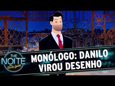 The Noite (14/10/16) - Monólogo: Danilo virou desenho