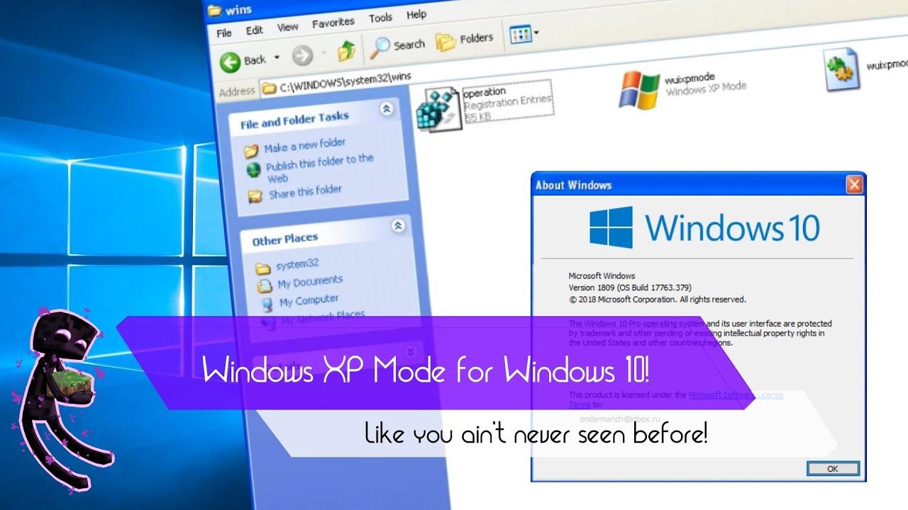 Windows XP Mode for Windows 10! - YouTube