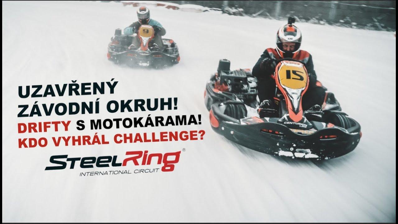 Drifty s motokárama na sněhu?!? | Uzavřený závodní okruh jen pro nás! l Test s žigula?