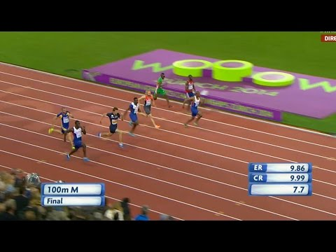 Men's 100m final Zürich 2014 (European Athletics Championships)