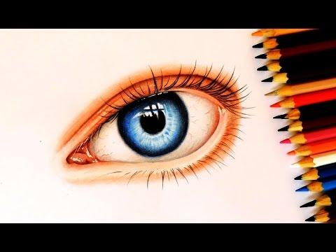 Como Desenhar Um Olho Realista Com Lapis De Cor How To Draw